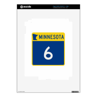 Carretera 6 del tronco de Minnesota iPad 2 Calcomanía