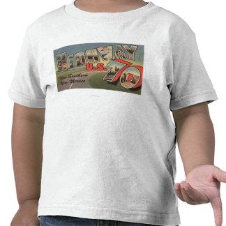 Carretera 70 de New México - los E E U U - letra Camisetas