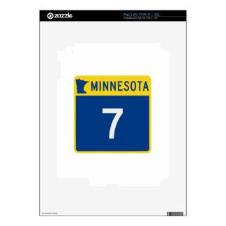 Carretera 7 del tronco de Minnesota Calcomanías Para El iPad 2