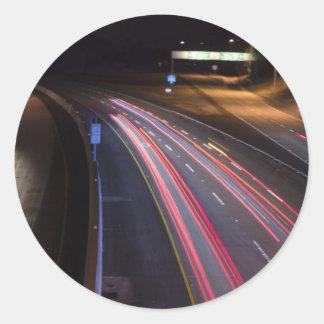 Carretera 85 en night_.jpg pegatina redonda