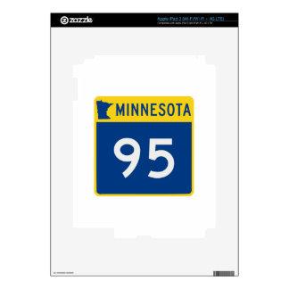 Carretera 95 del tronco de Minnesota iPad 3 Pegatina Skin
