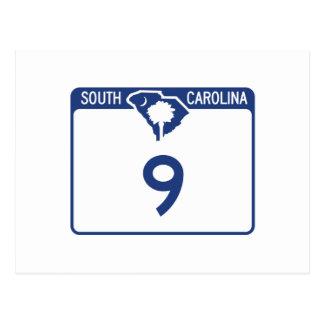 Carretera 9, Carolina del Sur, los E.E.U.U. Tarjeta Postal