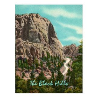 Carretera a la postal del vintage del monte Rushmo