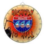 Carretera a la ruta 666 del infierno - redonda tablero dardos