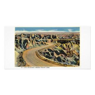 Carretera a través de los Badlands Tarjetas Fotograficas