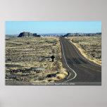 Carretera a través del desierto pintado, Arizona,  Posters