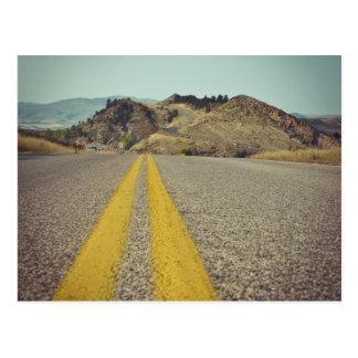 Carretera americana en el depósito Colorado de Tarjeta Postal
