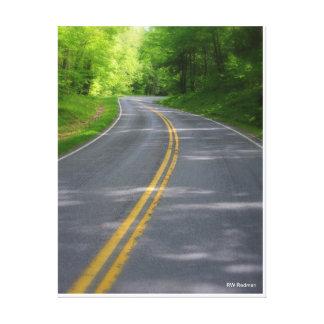 Carretera con curvas impresión en lona