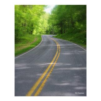 Carretera con curvas impresion fotografica