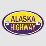 Carretera de Alaska Colcomanias De Óval