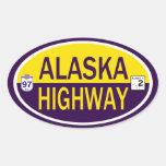 Carretera de Alaska Pegatina Ovalada
