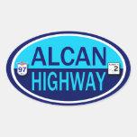 Carretera de Alcan Pegatina Ovalada