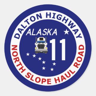 Carretera de Dalton, camino del norte del Etiquetas Redondas