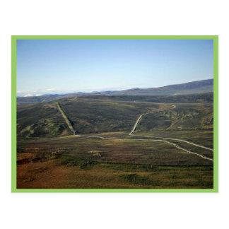 Carretera de Dalton y tubería de Transporte-Alaska Tarjeta Postal