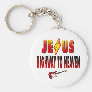 Carretera de Jesús al cielo Llavero Redondo Tipo Pin