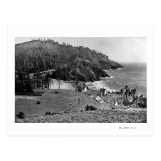 Carretera de la costa de Oregon el al frente de He Postales