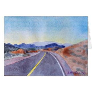 Carretera de Nevada Tarjeta De Felicitación