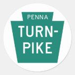 Carretera de peaje de Pennsylvania Pegatina Redonda