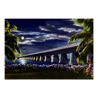 Carretera de ultramar dominante de la Florida de l Póster