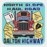 Carretera del norte de Dalton del camino del Calcomania Cuadradas Personalizada