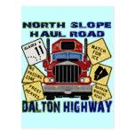Carretera del norte de Dalton del camino del recor Tarjeta Postal
