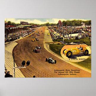 Carretera, el circuito de carreras de funcionamien impresiones
