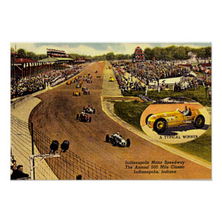 Carretera, el circuito de carreras de funcionamien póster