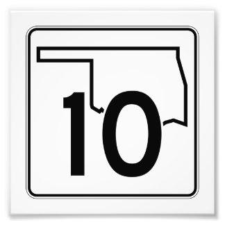 Carretera estatal 10 de Oklahoma Fotografía