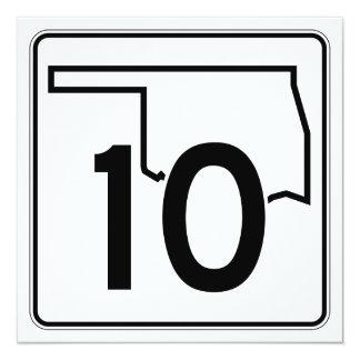 """Carretera estatal 10 de Oklahoma Invitación 5.25"""" X 5.25"""""""