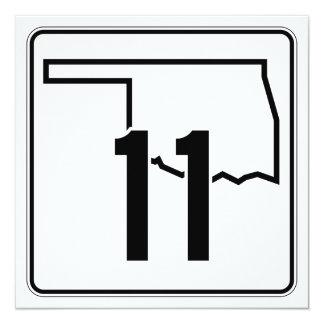 """Carretera estatal 11 de Oklahoma Invitación 5.25"""" X 5.25"""""""