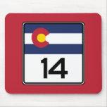 Carretera estatal 14, Colorado, los E.E.U.U. Alfombrilla De Ratón