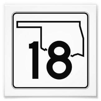Carretera estatal 18 de Oklahoma Fotografía
