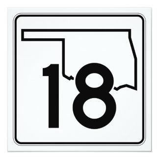 """Carretera estatal 18 de Oklahoma Invitación 5.25"""" X 5.25"""""""