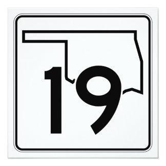 """Carretera estatal 19 de Oklahoma Invitación 5.25"""" X 5.25"""""""