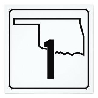 """Carretera estatal 1 de Oklahoma Invitación 5.25"""" X 5.25"""""""