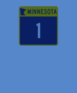 Carretera estatal 1, Minnesota, los E.E.U.U. Camisetas