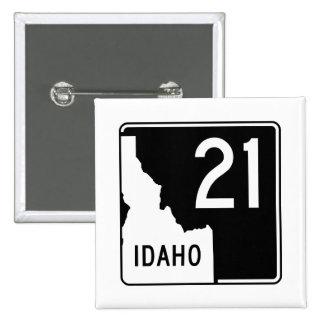 Carretera estatal 21 de Idaho Pin Cuadrado