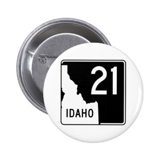 Carretera estatal 21 de Idaho Pin Redondo De 2 Pulgadas