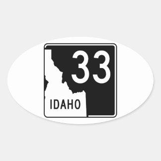 Carretera estatal 33 de Idaho Pegatina Ovalada