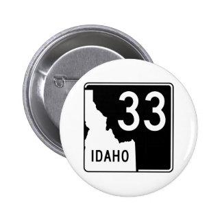 Carretera estatal 33 de Idaho Pin Redondo De 2 Pulgadas