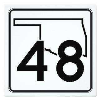 """Carretera estatal 48 de Oklahoma Invitación 5.25"""" X 5.25"""""""