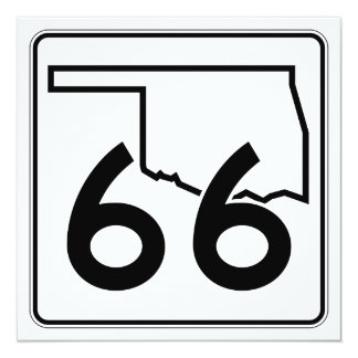 """Carretera estatal 66 de Oklahoma Invitación 5.25"""" X 5.25"""""""