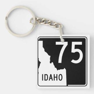 Carretera estatal 75 de Idaho Llavero Cuadrado Acrílico A Doble Cara