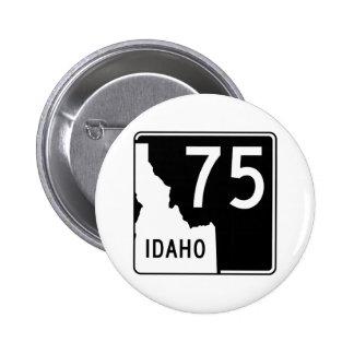 Carretera estatal 75 de Idaho Pin Redondo De 2 Pulgadas