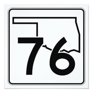 """Carretera estatal 76 de Oklahoma Invitación 5.25"""" X 5.25"""""""