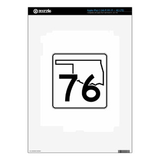 Carretera estatal 76 de Oklahoma iPad 3 Pegatina Skin