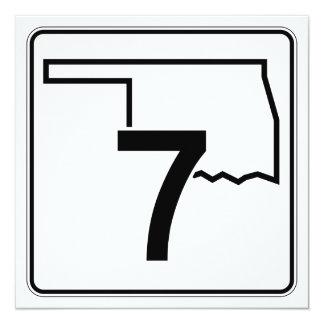 """Carretera estatal 7 de Oklahoma Invitación 5.25"""" X 5.25"""""""