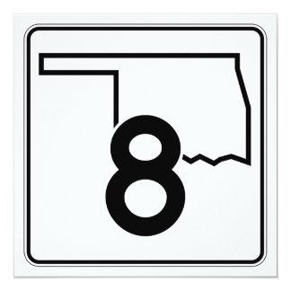 """Carretera estatal 8 de Oklahoma Invitación 5.25"""" X 5.25"""""""