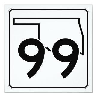 """Carretera estatal 99 de Oklahoma Invitación 5.25"""" X 5.25"""""""