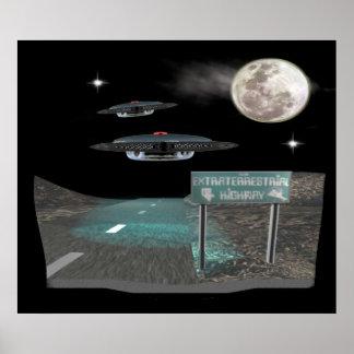 carretera extranjera póster